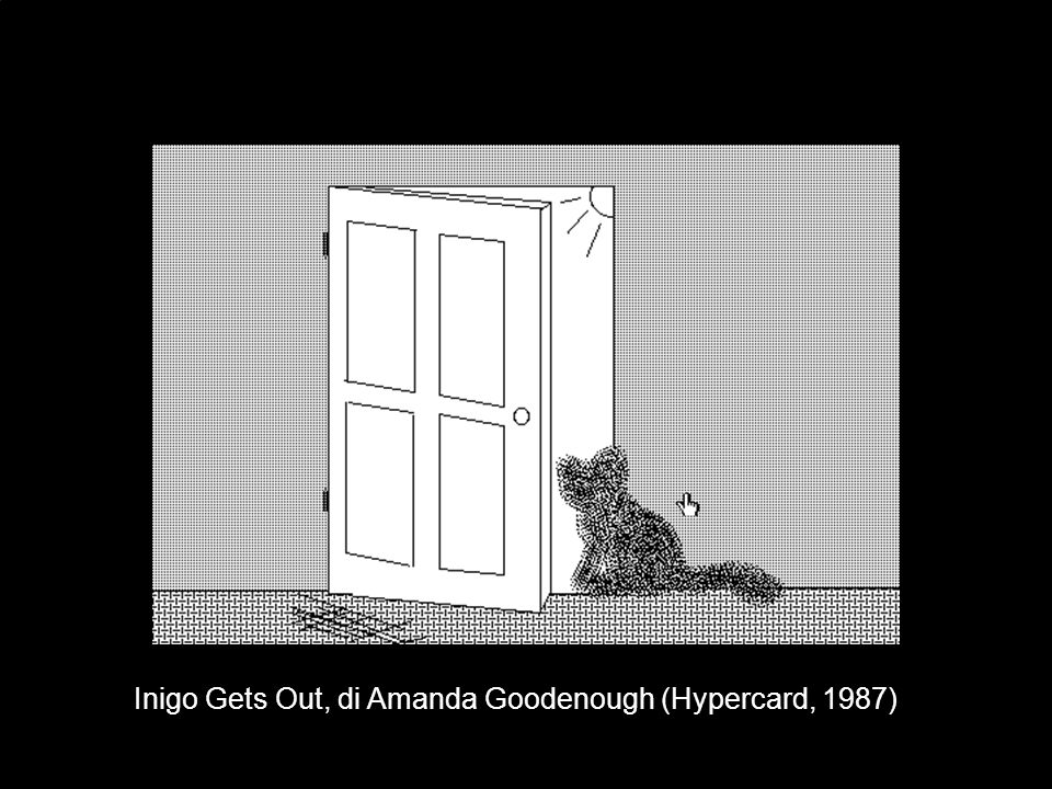 Inigo Gets Out, di Amanda Goodenough (Hypercard, 1987)