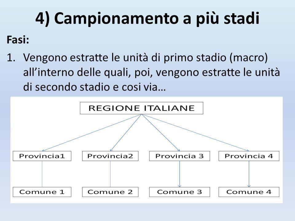 4) Campionamento a più stadi