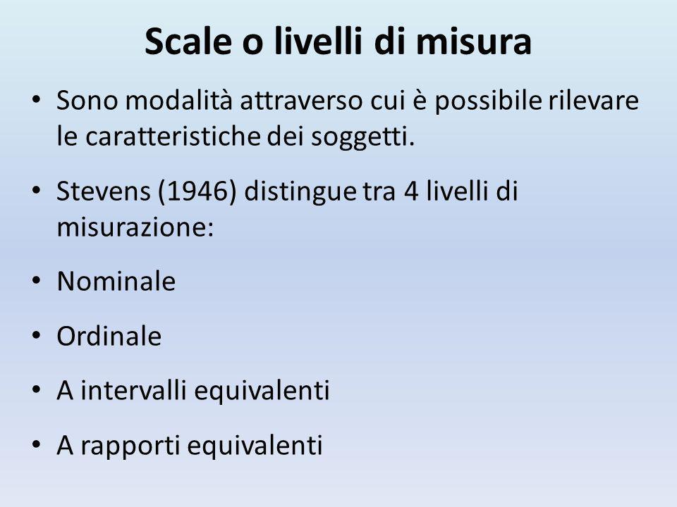 Scale o livelli di misura