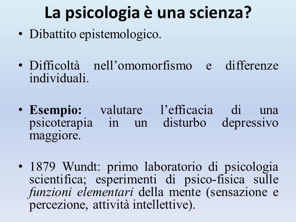La psicologia è una scienza