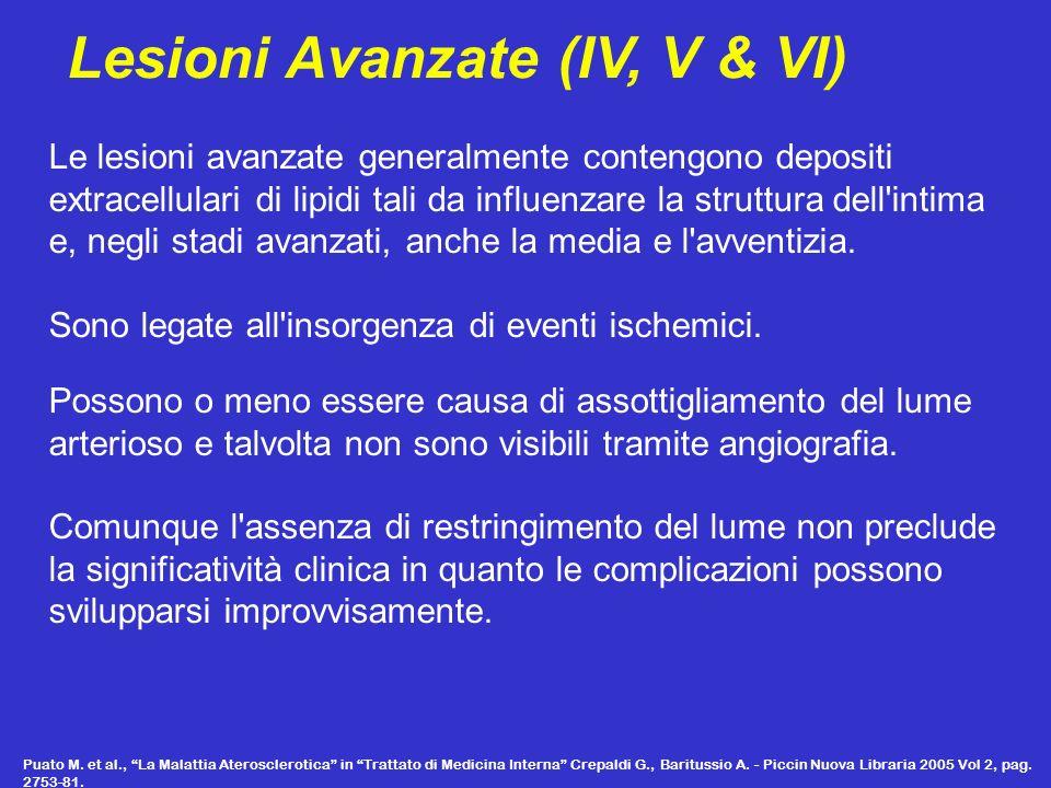 Lesioni Avanzate (IV, V & VI)