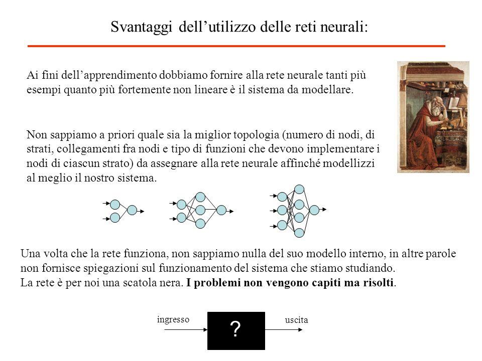 Svantaggi dell'utilizzo delle reti neurali: