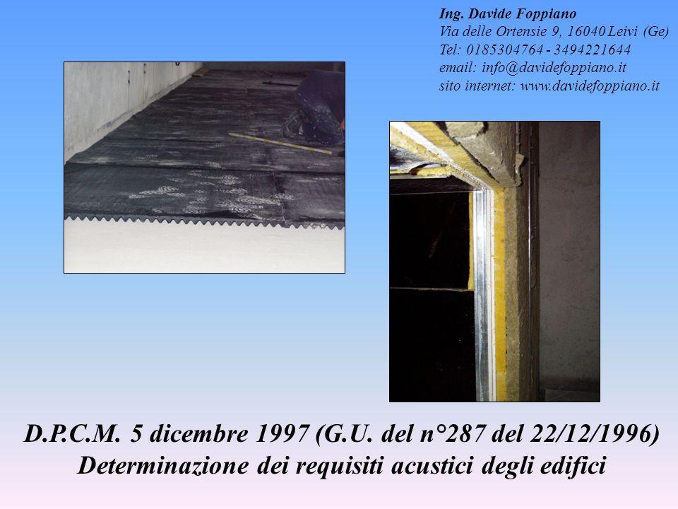 Ing. Davide Foppiano Via delle Ortensie 9, 16040 Leivi (Ge) Tel: 0185304764 - 3494221644. email: info@davidefoppiano.it.