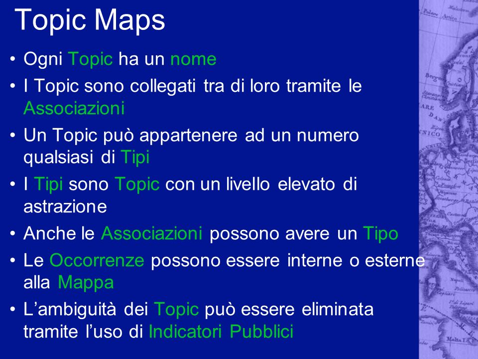 Topic Maps Ogni Topic ha un nome