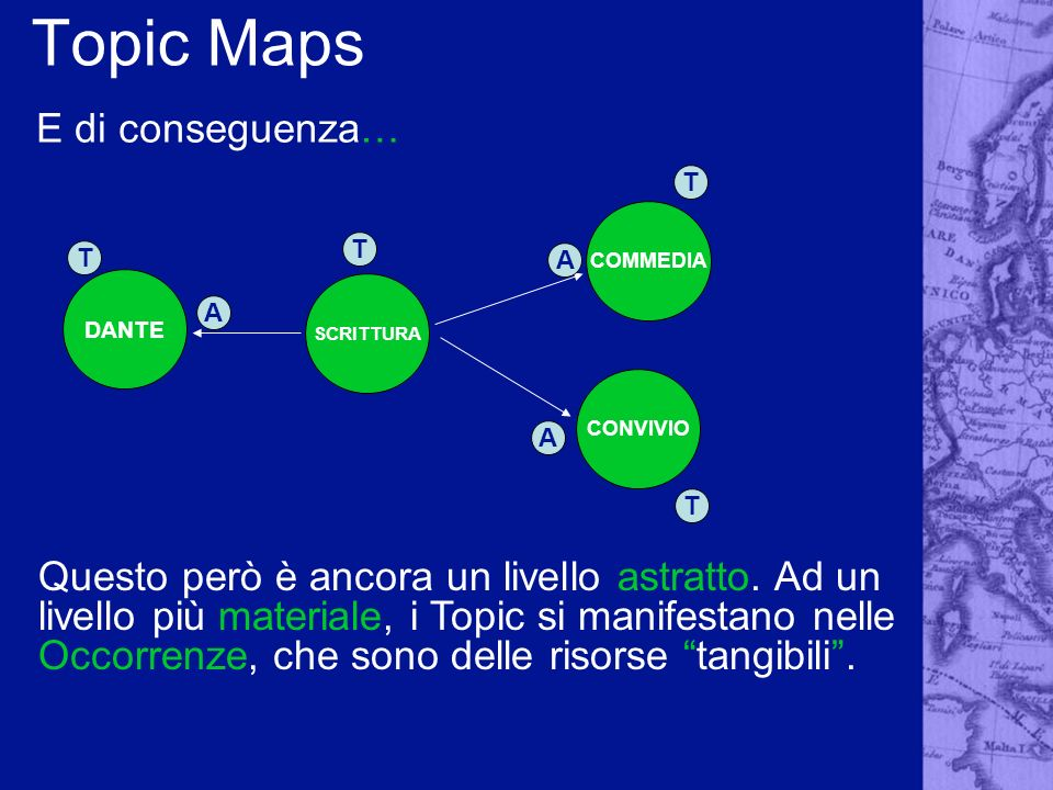 Topic Maps E di conseguenza…