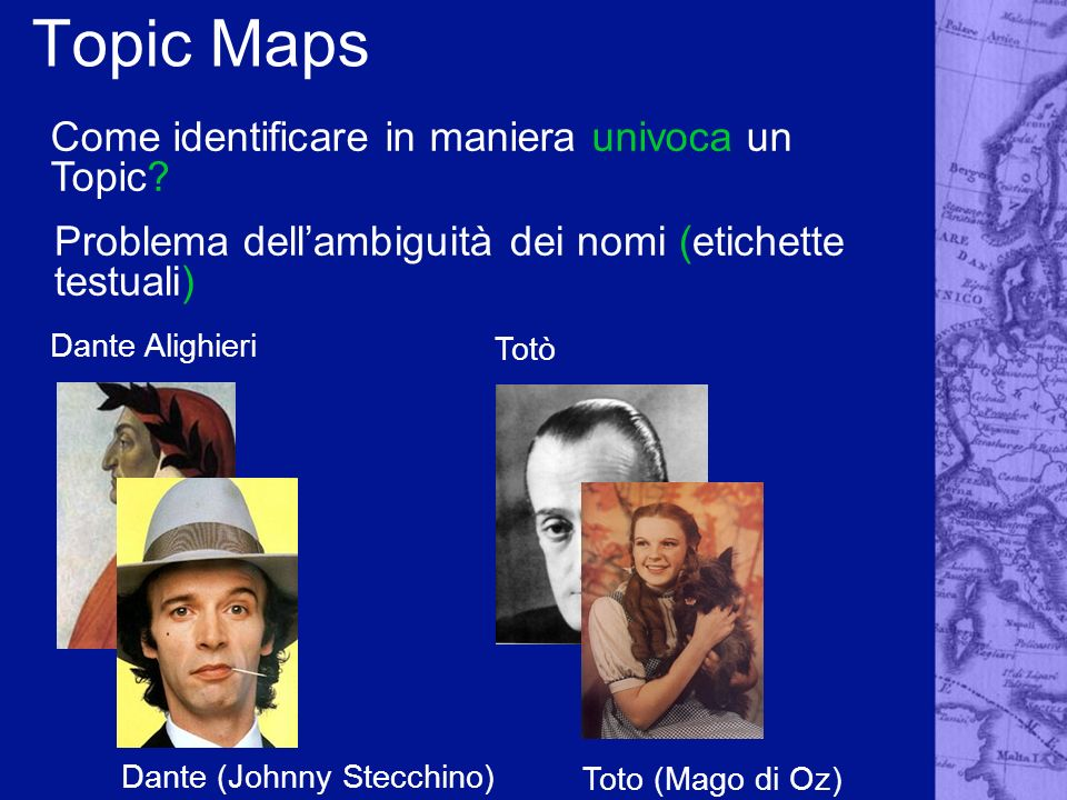 Topic Maps Come identificare in maniera univoca un Topic