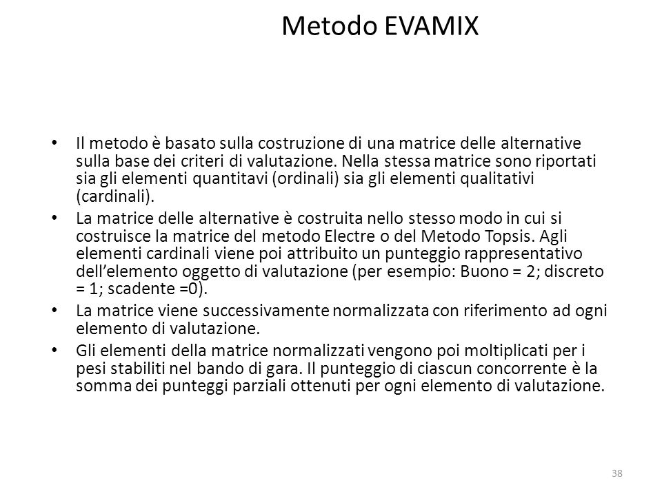 Metodo EVAMIX