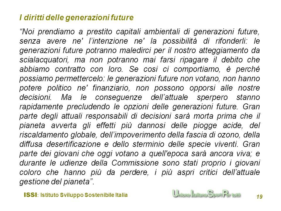 I diritti delle generazioni future