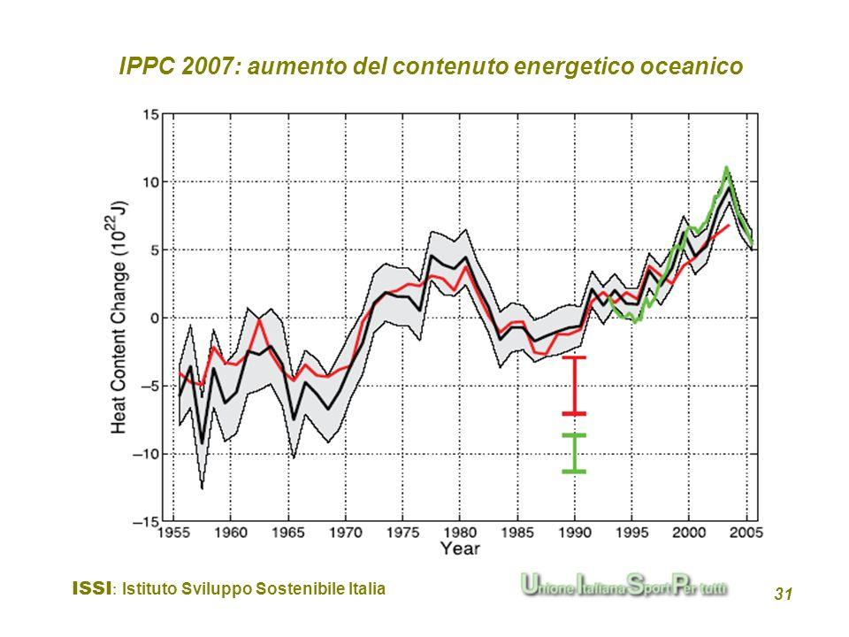 IPPC 2007: aumento del contenuto energetico oceanico