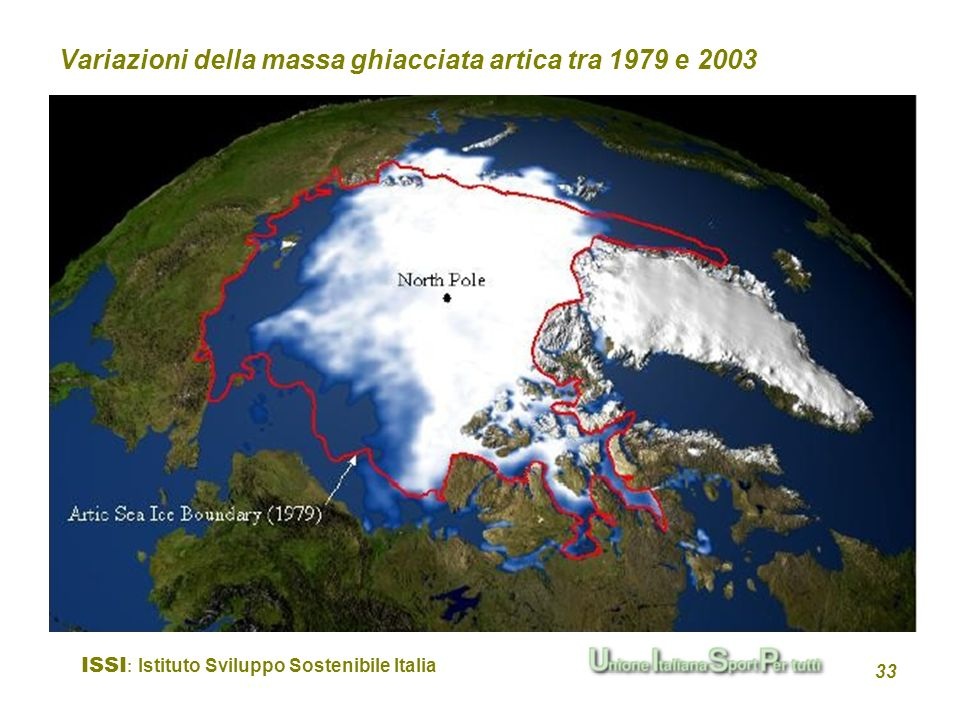 Variazioni della massa ghiacciata artica tra 1979 e 2003