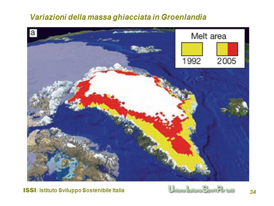 Variazioni della massa ghiacciata in Groenlandia