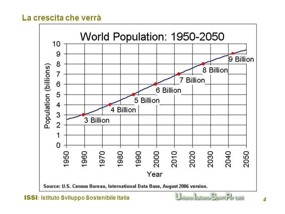 La crescita che verrà ISSI: Istituto Sviluppo Sostenibile Italia