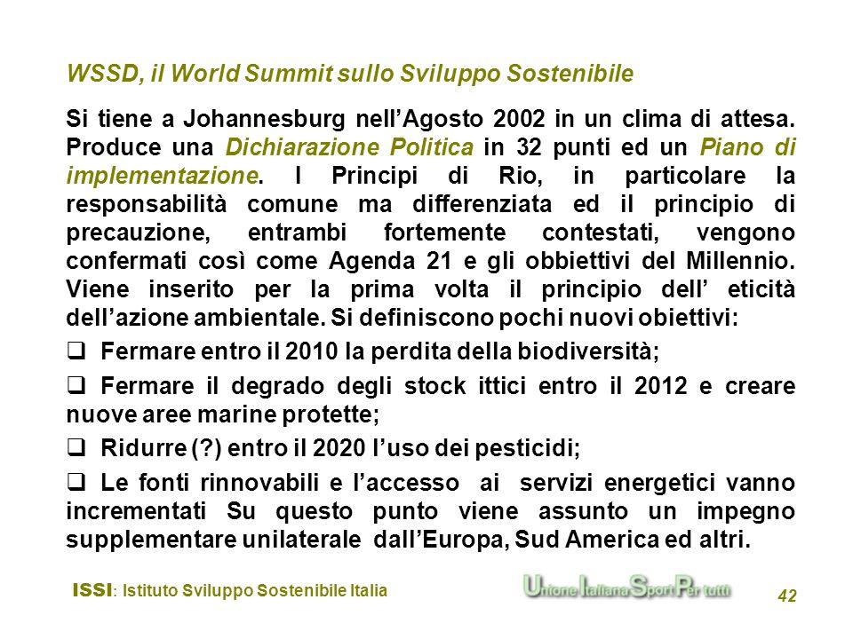 WSSD, il World Summit sullo Sviluppo Sostenibile