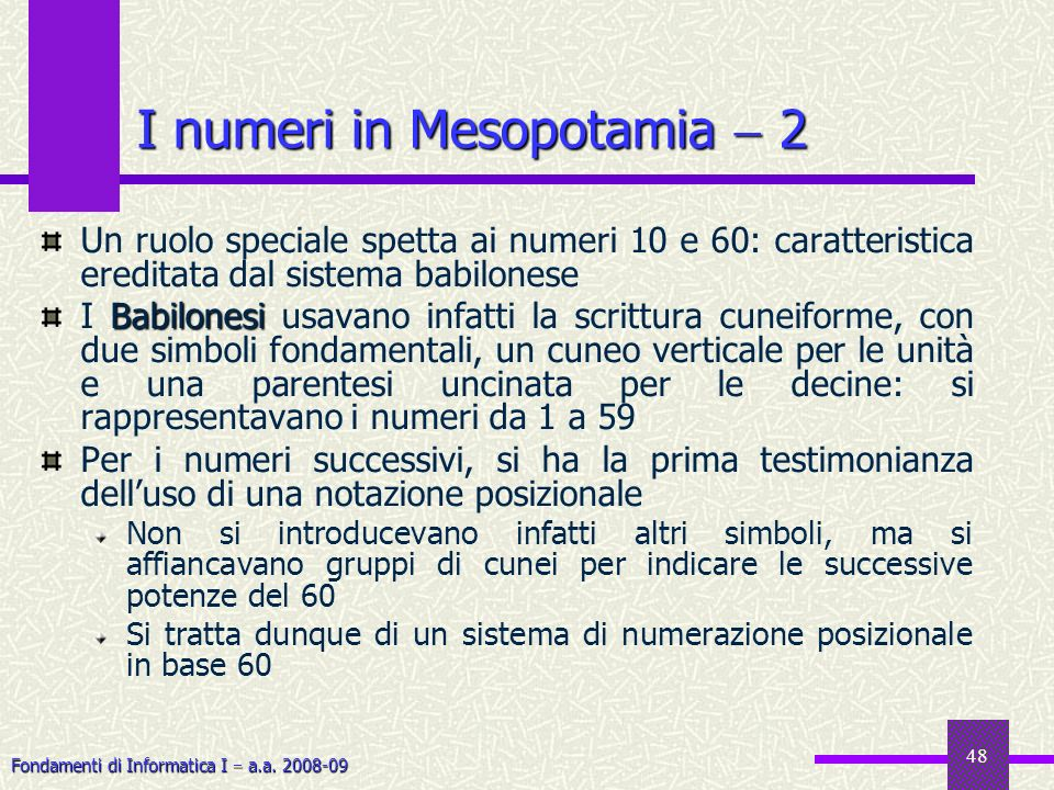 I numeri in Mesopotamia  2