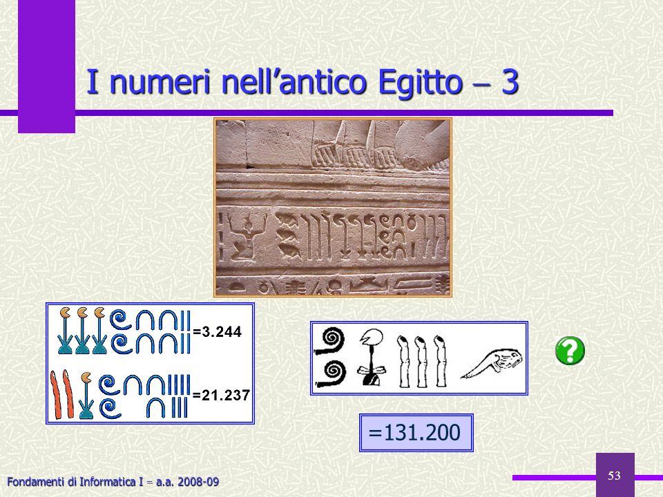 I numeri nell'antico Egitto  3