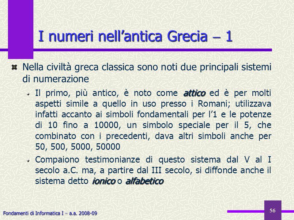 I numeri nell'antica Grecia  1