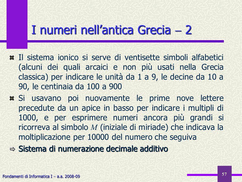I numeri nell'antica Grecia  2