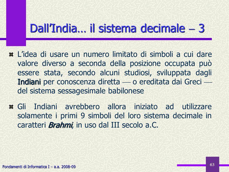 Dall'India… il sistema decimale  3