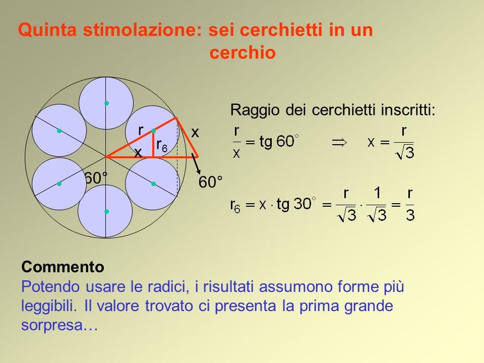 Quinta stimolazione: sei cerchietti in un cerchio