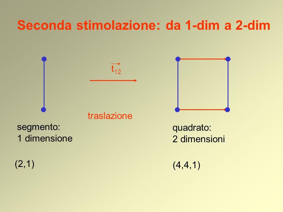 Seconda stimolazione: da 1-dim a 2-dim