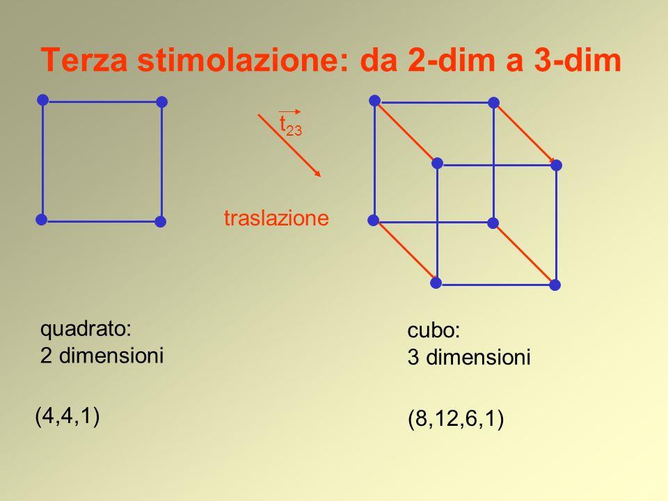 Terza stimolazione: da 2-dim a 3-dim