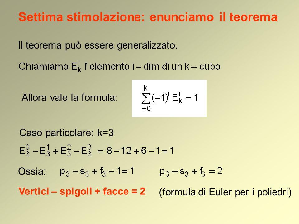 Settima stimolazione: enunciamo il teorema