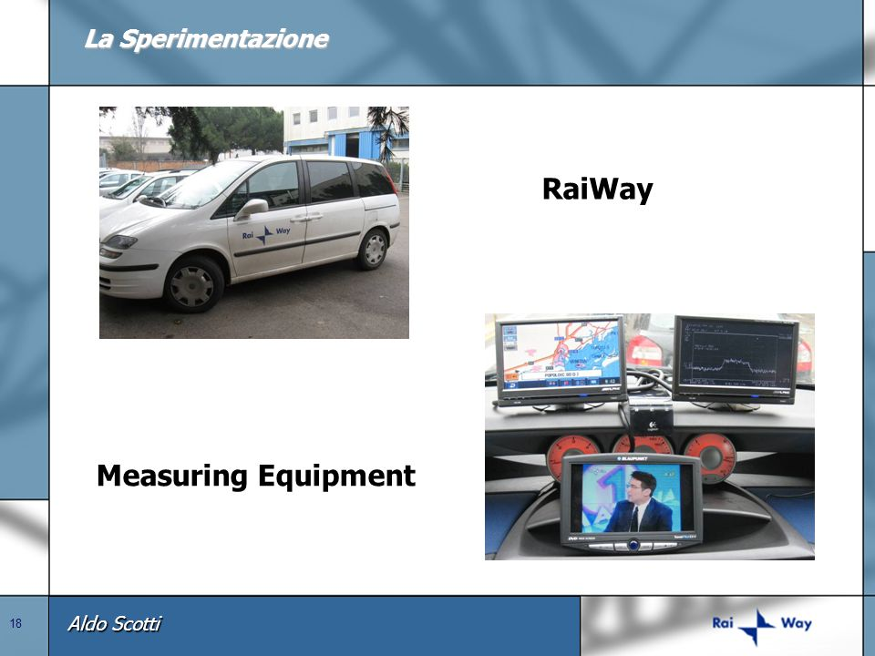 La Sperimentazione RaiWay Measuring Equipment