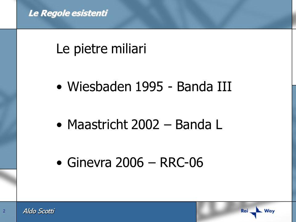 Le pietre miliari Wiesbaden 1995 - Banda III Maastricht 2002 – Banda L