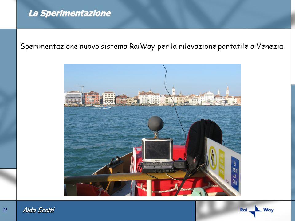 La Sperimentazione Sperimentazione nuovo sistema RaiWay per la rilevazione portatile a Venezia