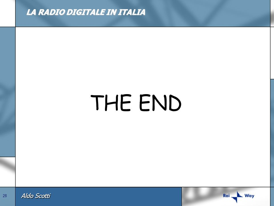 LA RADIO DIGITALE IN ITALIA