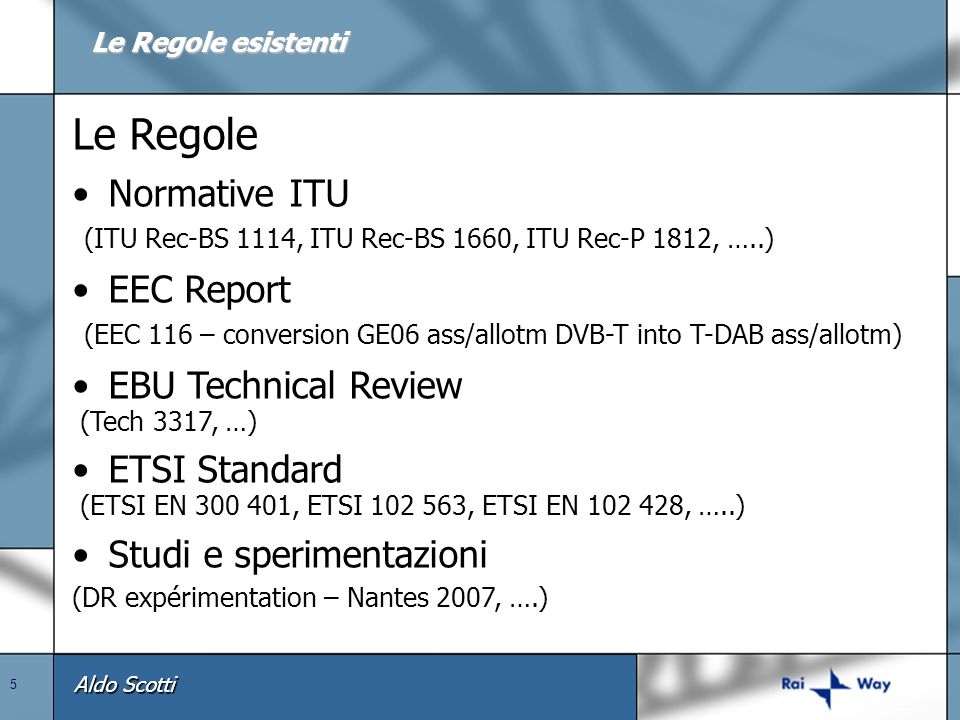 Le Regole Normative ITU