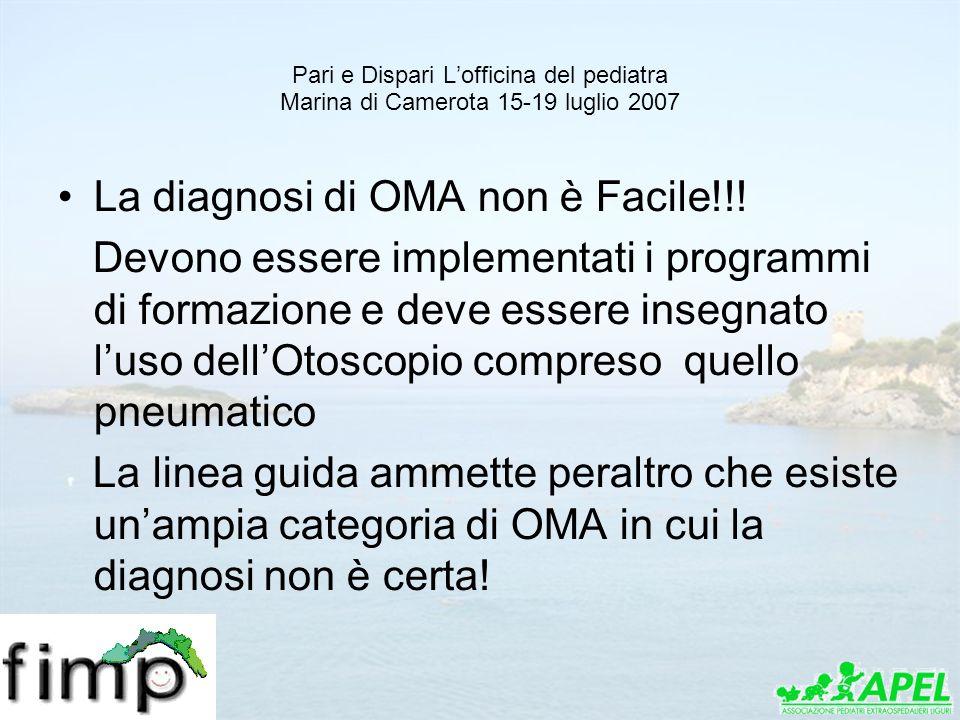 La diagnosi di OMA non è Facile!!!