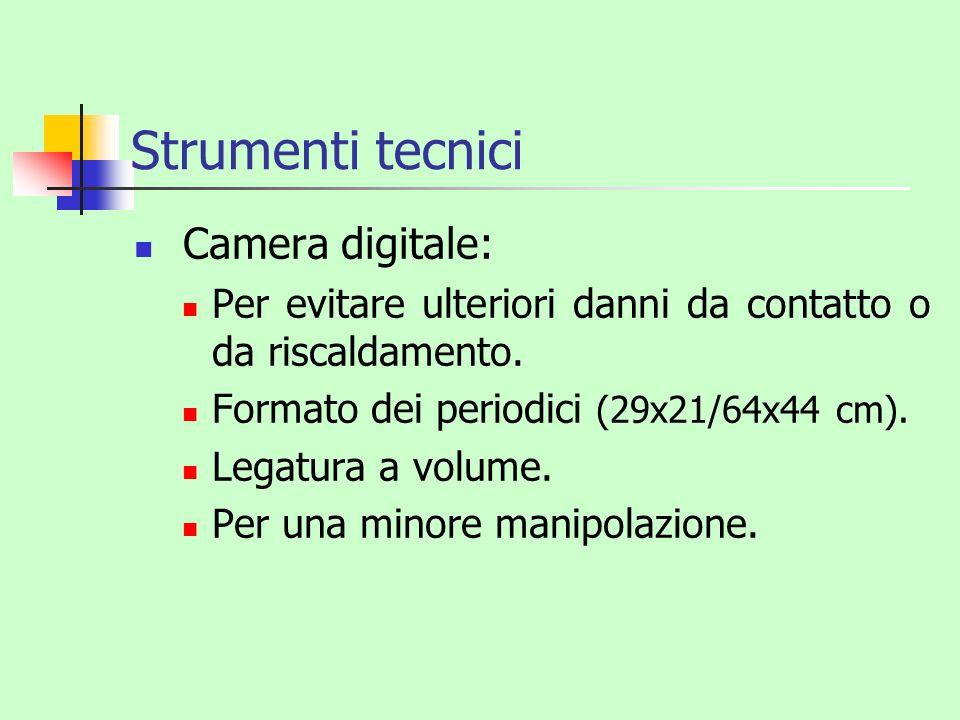 Strumenti tecnici Camera digitale:
