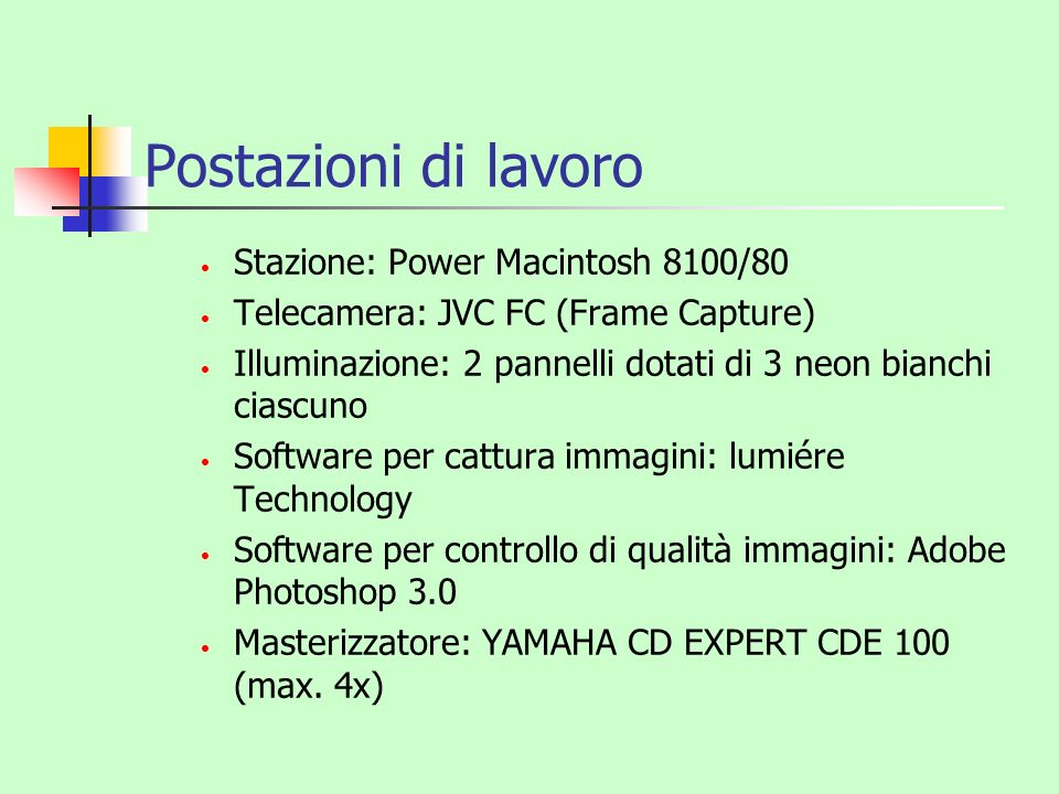 Postazioni di lavoro Stazione: Power Macintosh 8100/80
