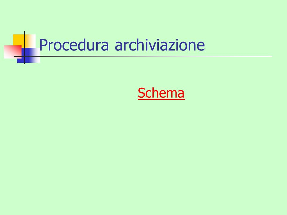 Procedura archiviazione