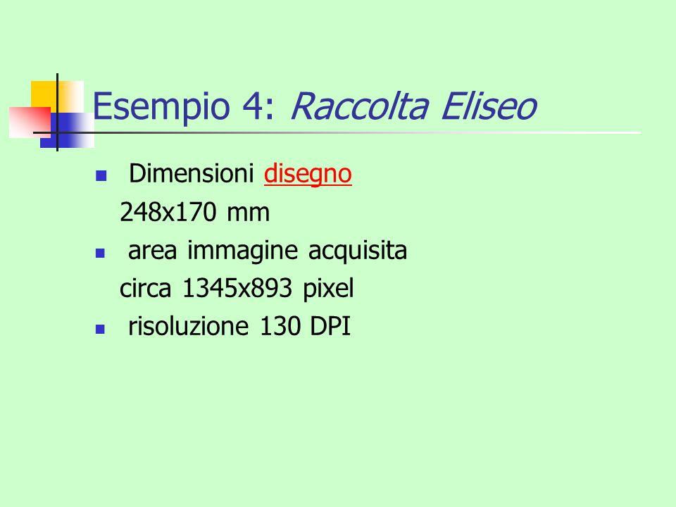 Esempio 4: Raccolta Eliseo