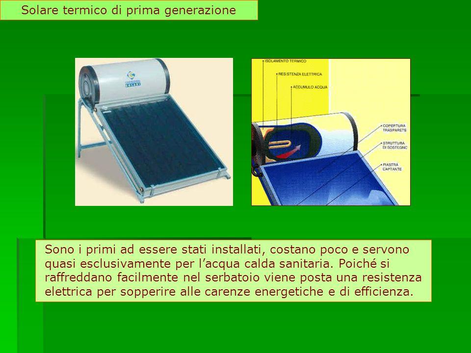 Solare termico di prima generazione
