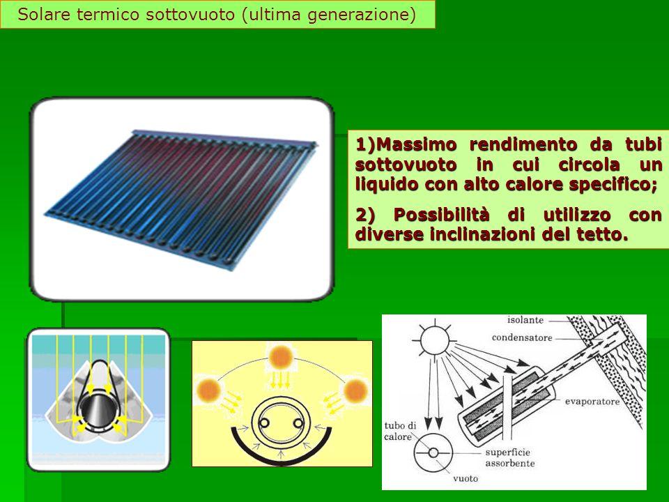 Solare termico sottovuoto (ultima generazione)