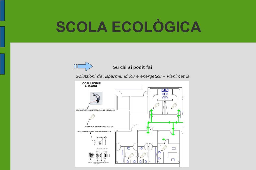 Solutzioni de rispàrmiu ìdricu e energèticu – Planimetria
