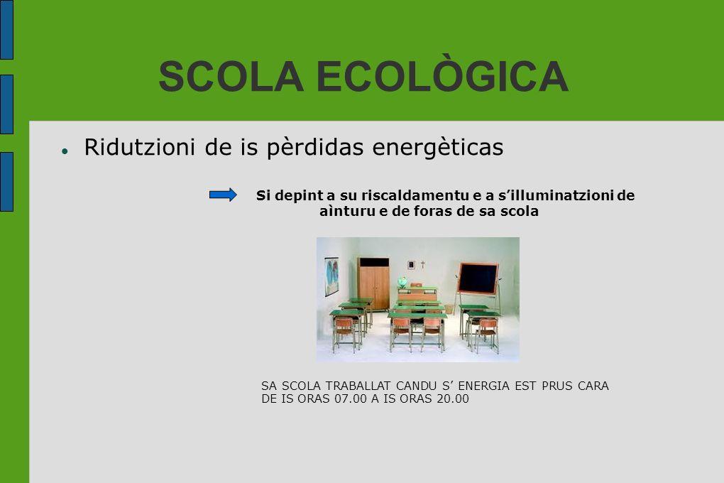 SCOLA ECOLÒGICA Ridutzioni de is pèrdidas energèticas