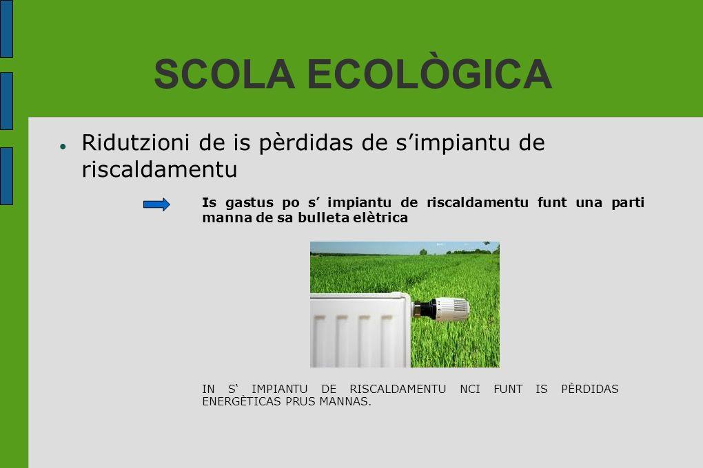 SCOLA ECOLÒGICA Ridutzioni de is pèrdidas de s'impiantu de riscaldamentu.