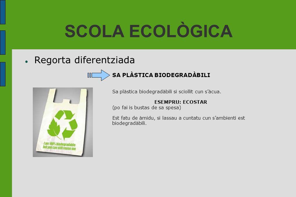 SCOLA ECOLÒGICA Regorta diferentziada SA PLÀSTICA BIODEGRADÀBILI