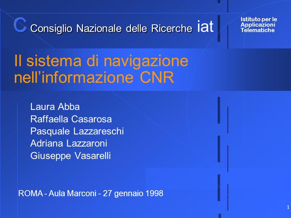 Il sistema di navigazione nell'informazione CNR