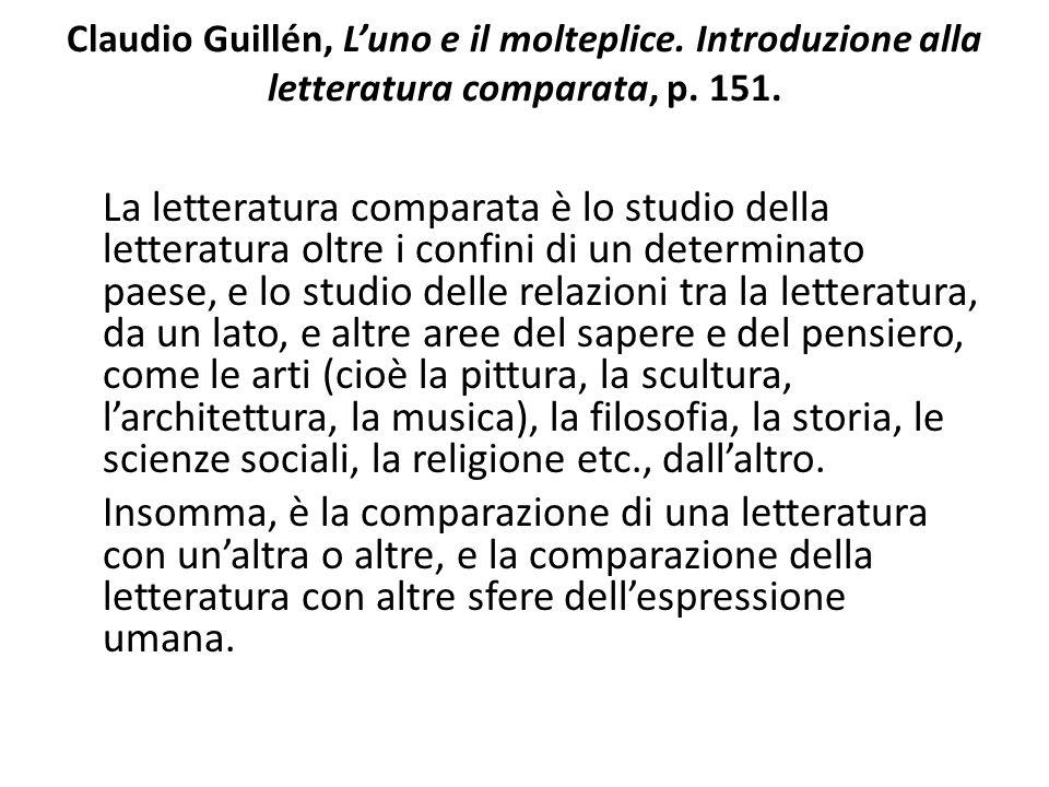 Claudio Guillén, L'uno e il molteplice