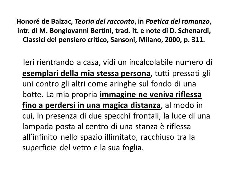 Honoré de Balzac, Teoria del racconto, in Poetica del romanzo, intr