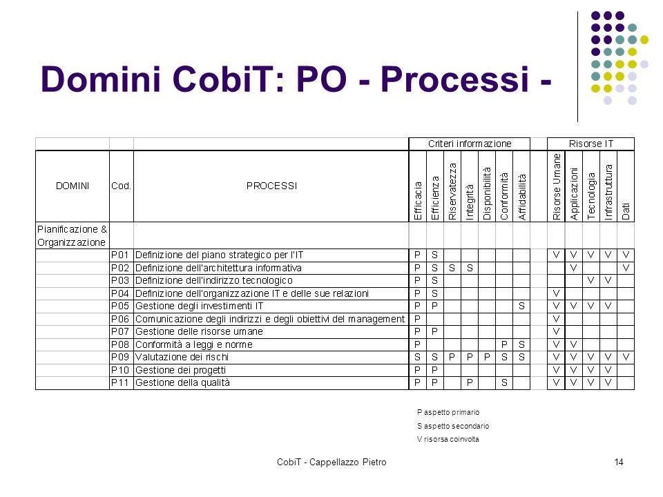 Domini CobiT: PO - Processi -