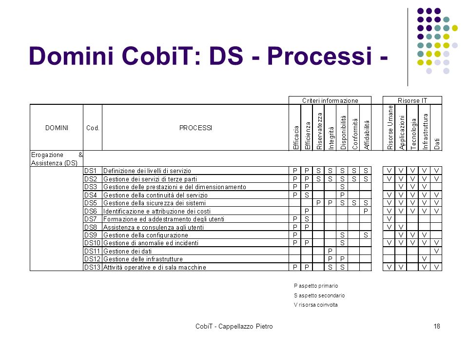 Domini CobiT: DS - Processi -