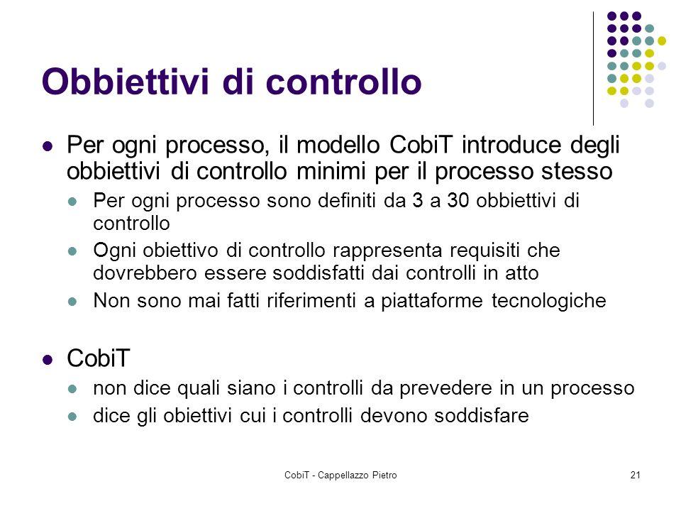 Obbiettivi di controllo