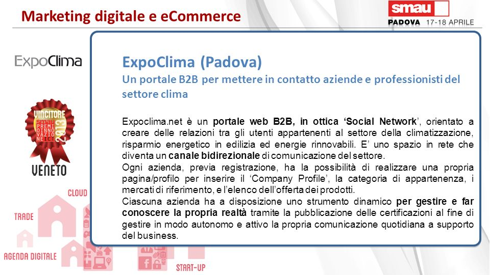 ExpoClima (Padova) Marketing digitale e eCommerce