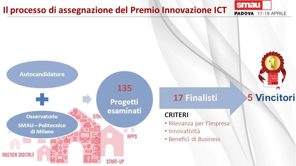 Il processo di assegnazione del Premio Innovazione ICT